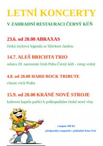 Letní koncerty plakát